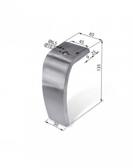 Noga aluminiowa NA 001