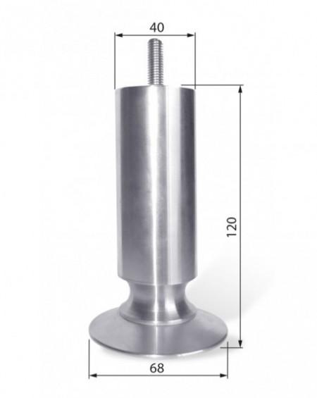 Noga aluminiowa NA 008