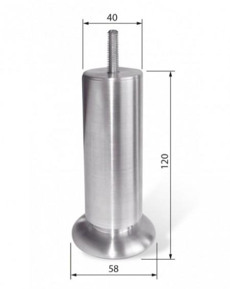 Noga aluminiowa NA 012